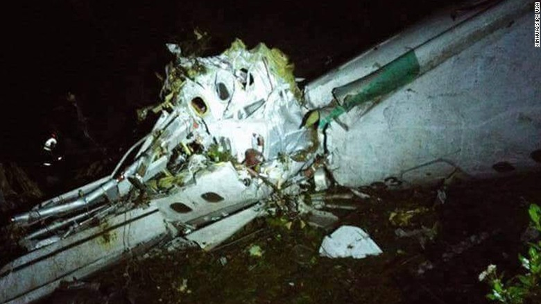 Colombian plane crash,76 confirmed dead